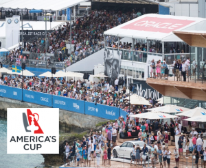 S2 | Foamhand Services at America's Cup Crowd with Logo